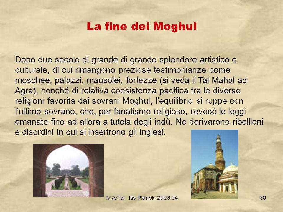 La fine dei Moghul