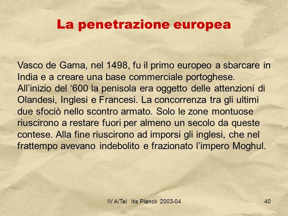 La penetrazione europea