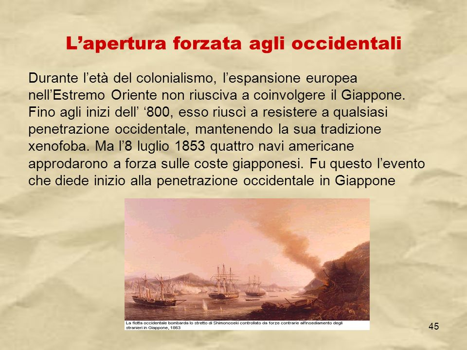 L'apertura forzata agli occidentali