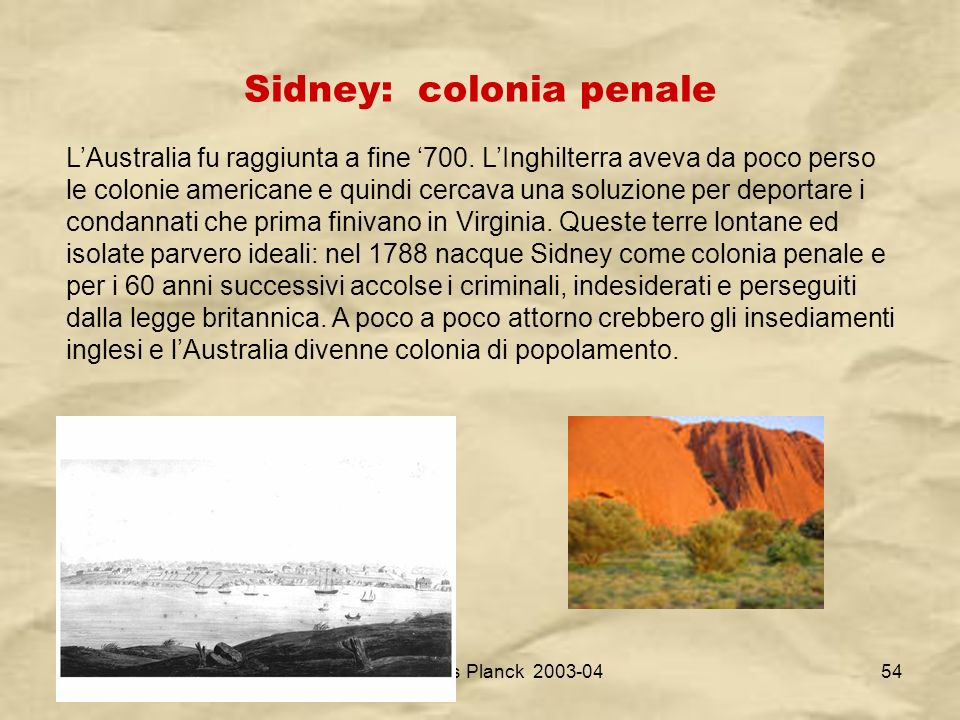 Sidney: colonia penale