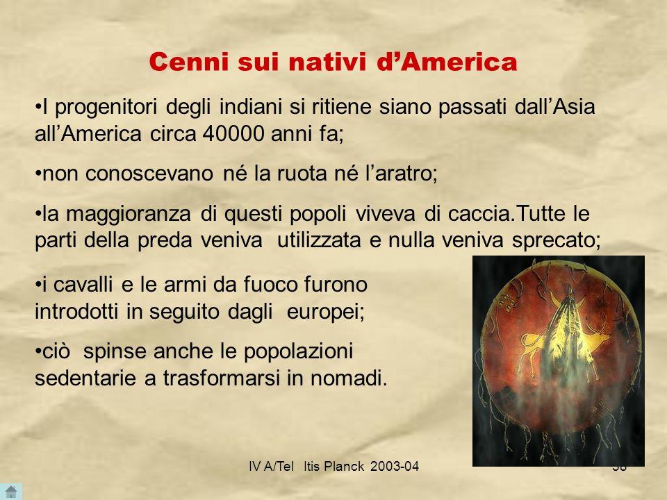 Cenni sui nativi d'America