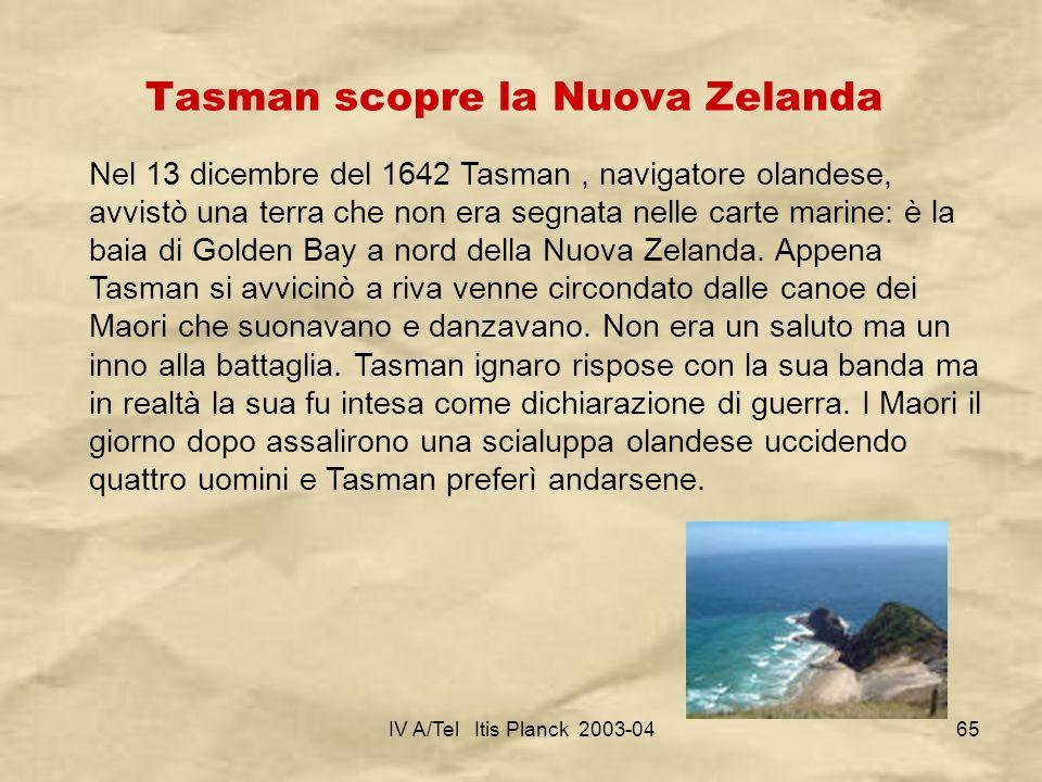 Tasman scopre la Nuova Zelanda