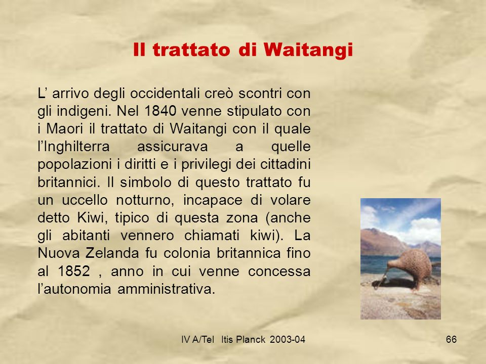 Il trattato di Waitangi