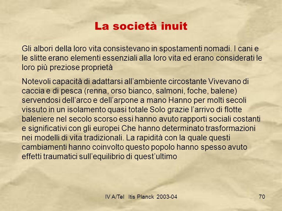 La società inuit