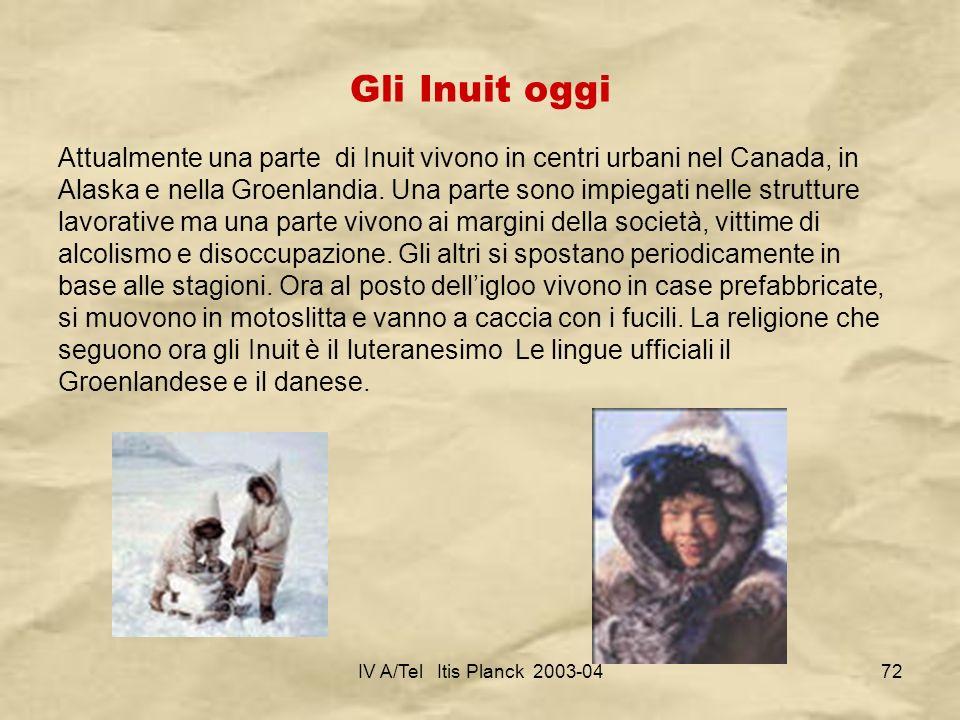 Gli Inuit oggi