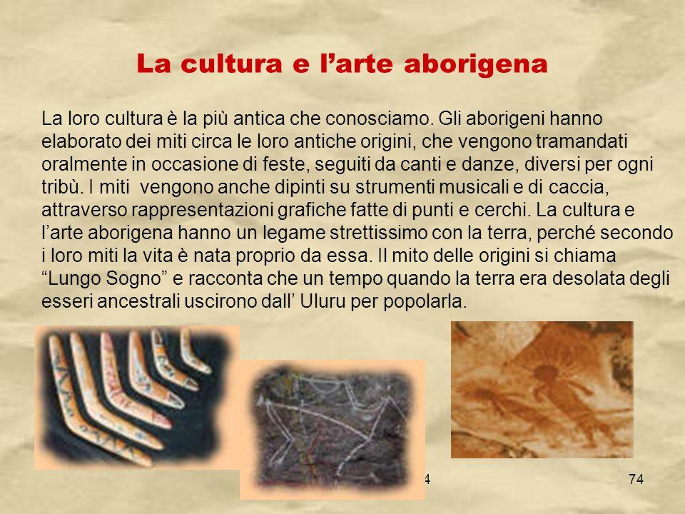 La cultura e l'arte aborigena