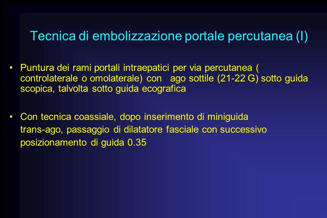 Tecnica di embolizzazione portale percutanea (I)