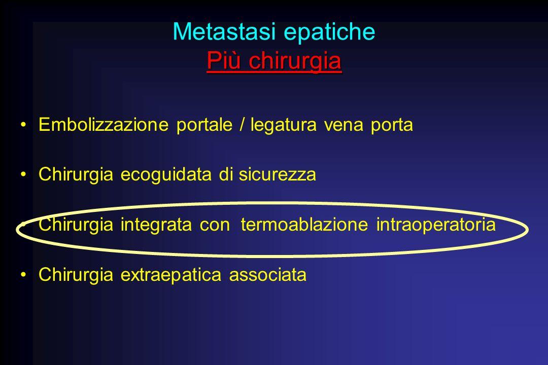Metastasi epatiche Più chirurgia
