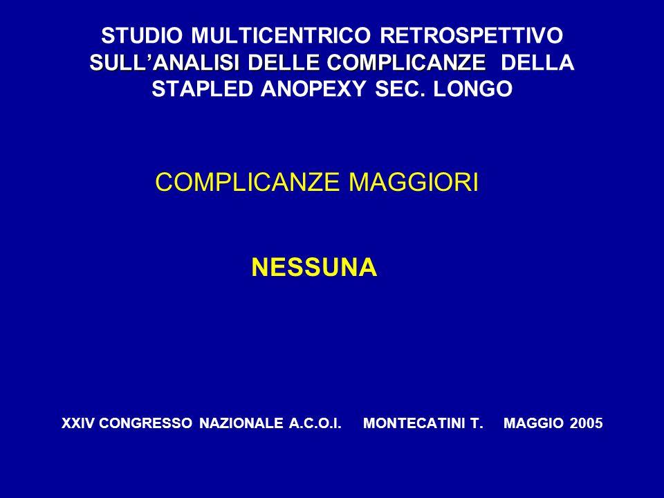 XXIV CONGRESSO NAZIONALE A.C.O.I. MONTECATINI T. MAGGIO 2005
