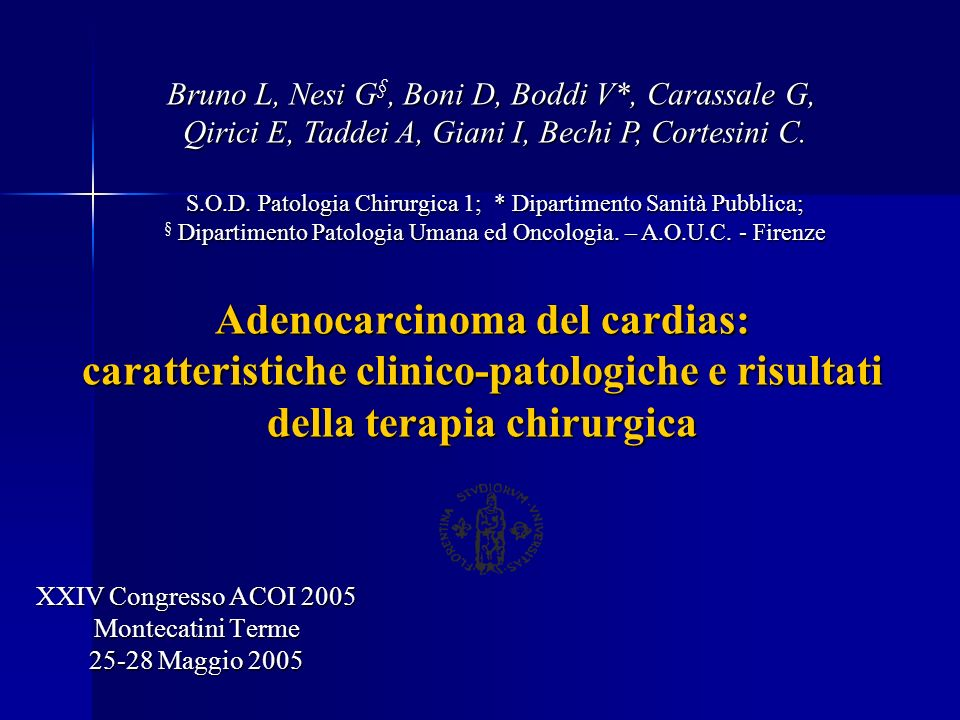XXIV Congresso ACOI 2005 Montecatini Terme 25-28 Maggio 2005