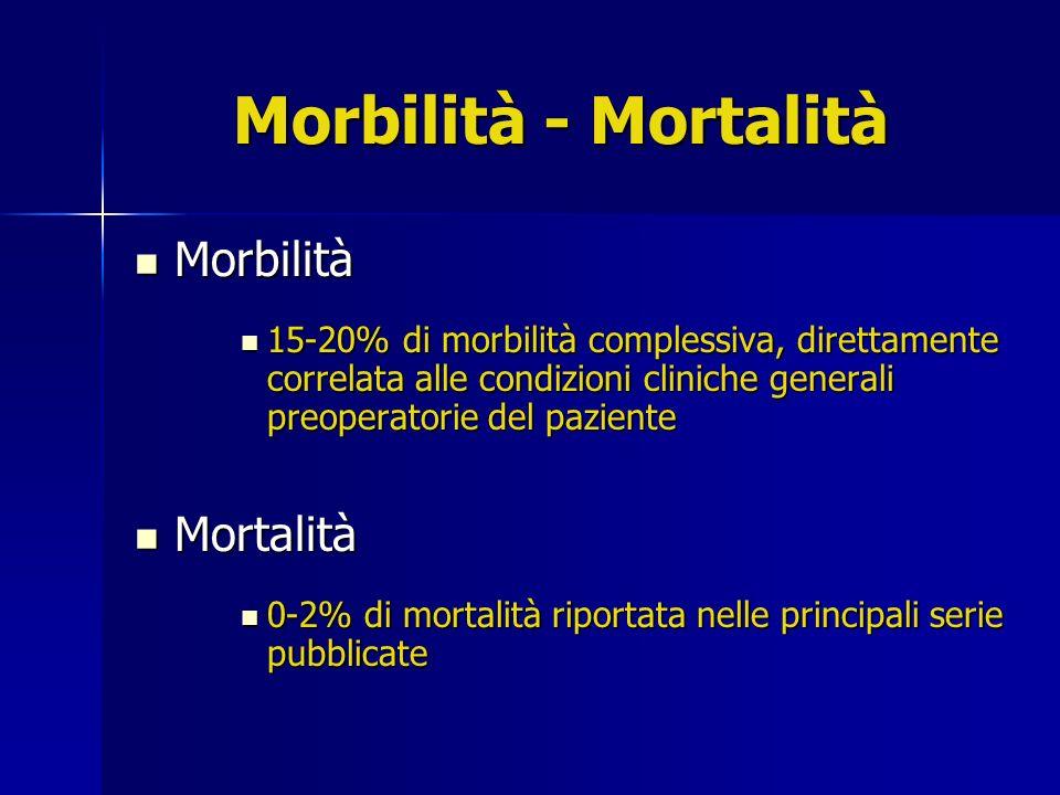 Morbilità - Mortalità Morbilità Mortalità
