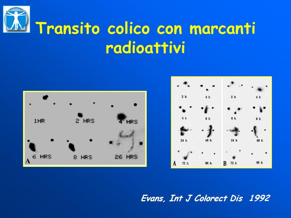 Transito colico con marcanti radioattivi