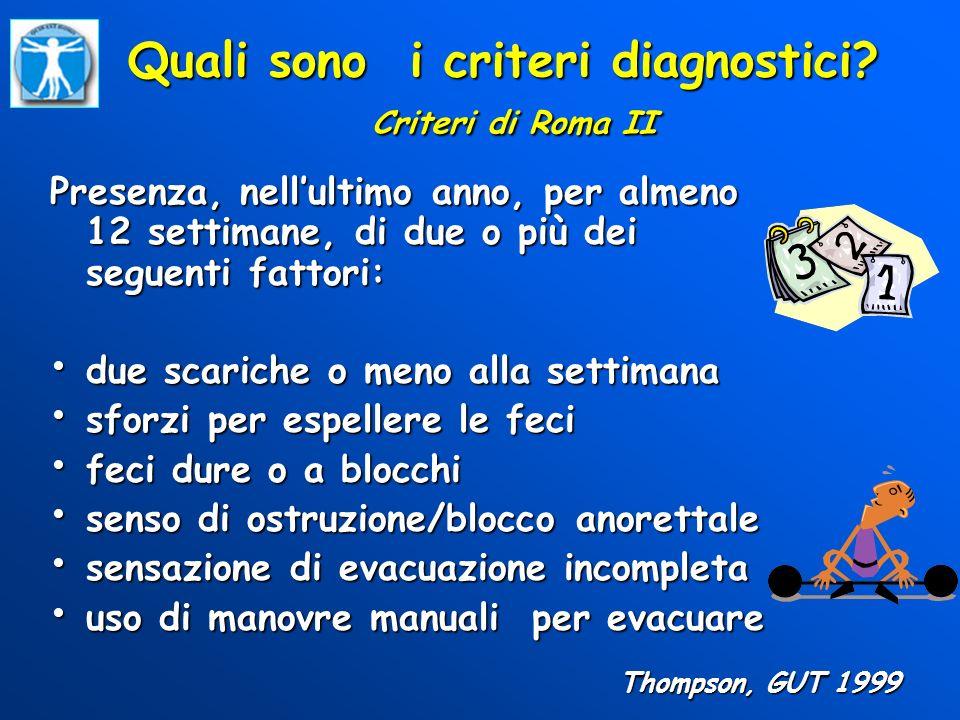 Quali sono i criteri diagnostici Criteri di Roma II