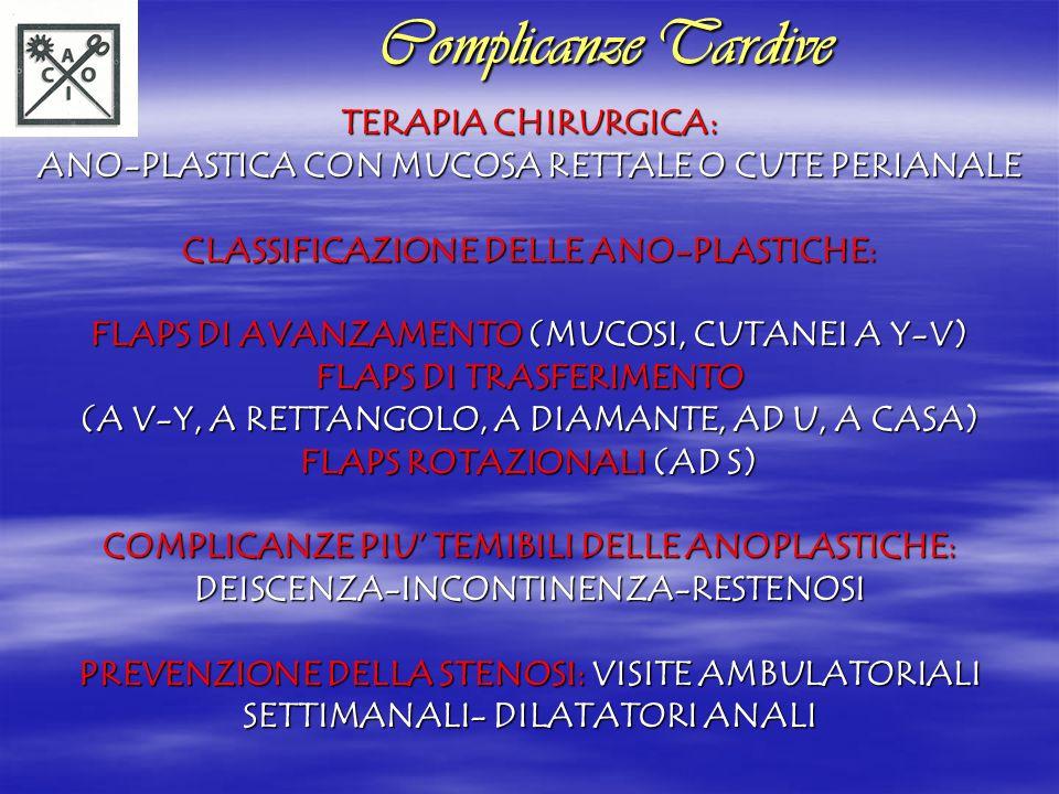 Complicanze Tardive TERAPIA CHIRURGICA: