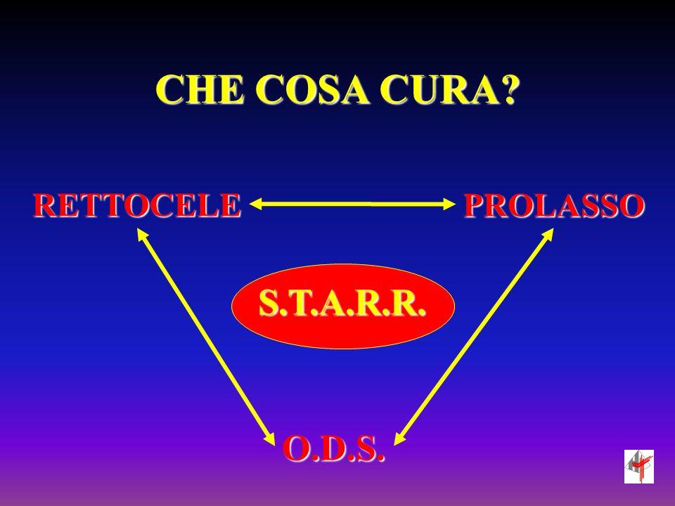 CHE COSA CURA RETTOCELE PROLASSO S.T.A.R.R. O.D.S.