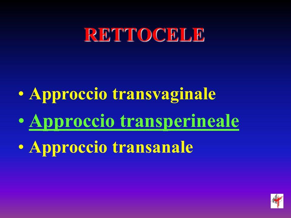 Approccio transperineale