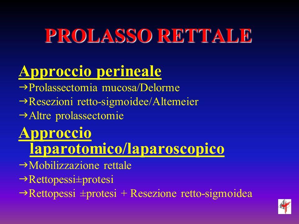 PROLASSO RETTALE Approccio perineale