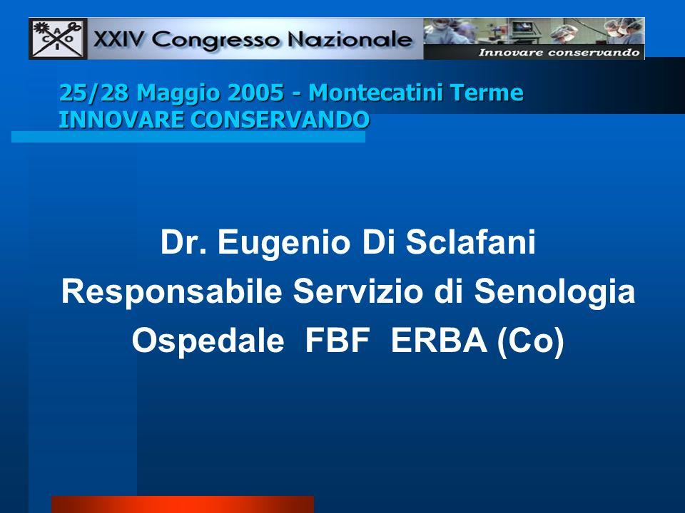 25/28 Maggio 2005 - Montecatini Terme INNOVARE CONSERVANDO