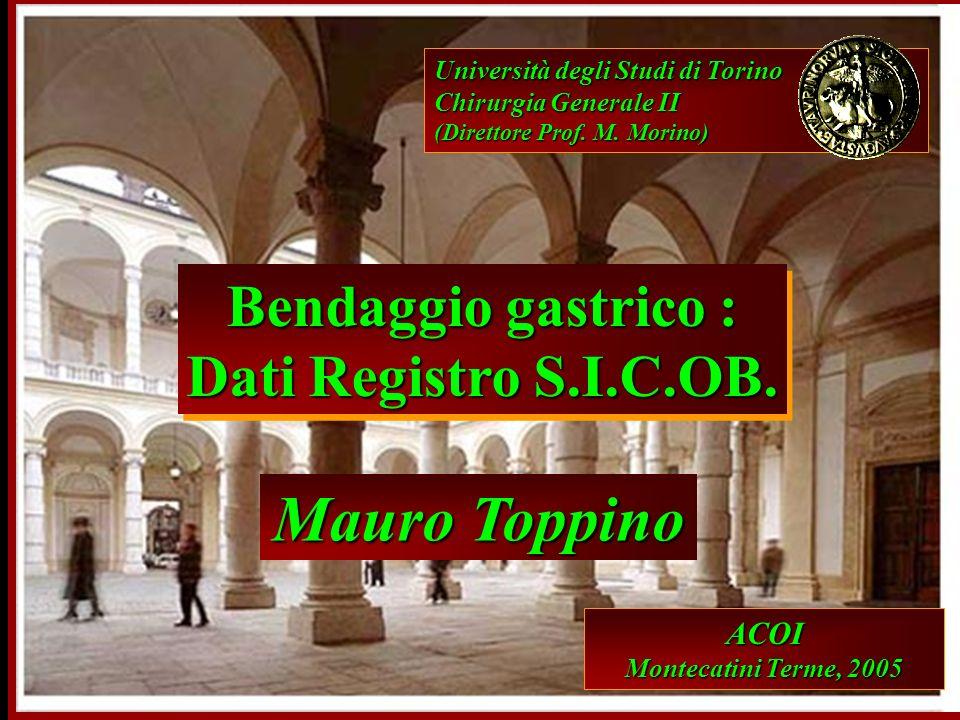 Mauro Toppino Bendaggio gastrico : Dati Registro S.I.C.OB. ACOI