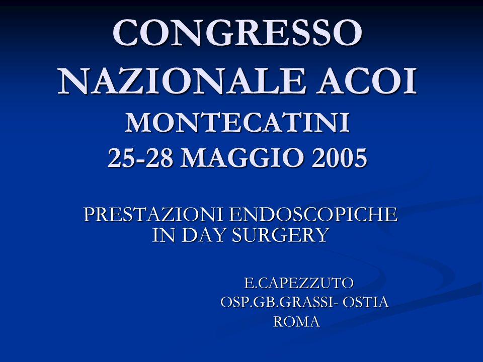 CONGRESSO NAZIONALE ACOI MONTECATINI 25-28 MAGGIO 2005