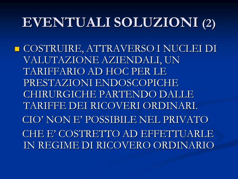 EVENTUALI SOLUZIONI (2)