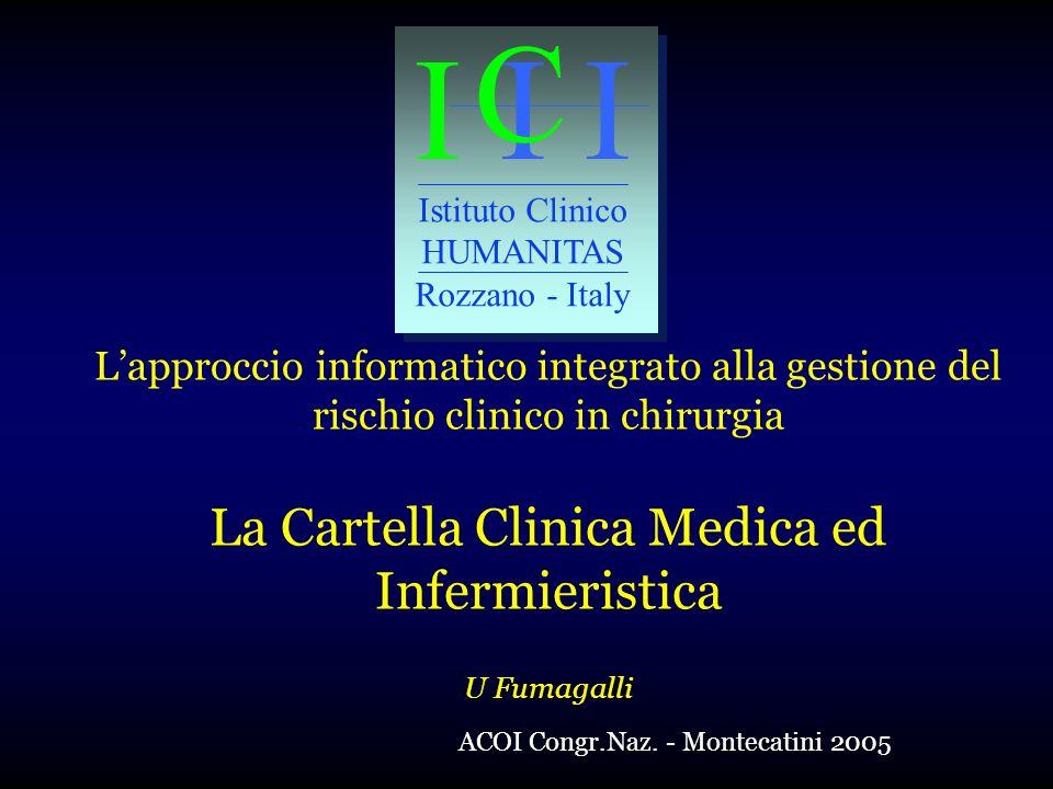 La Cartella Clinica Medica ed Infermieristica