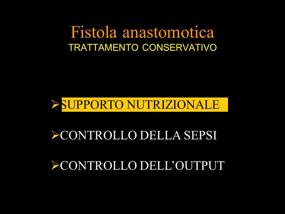 Fistola anastomotica TRATTAMENTO CONSERVATIVO