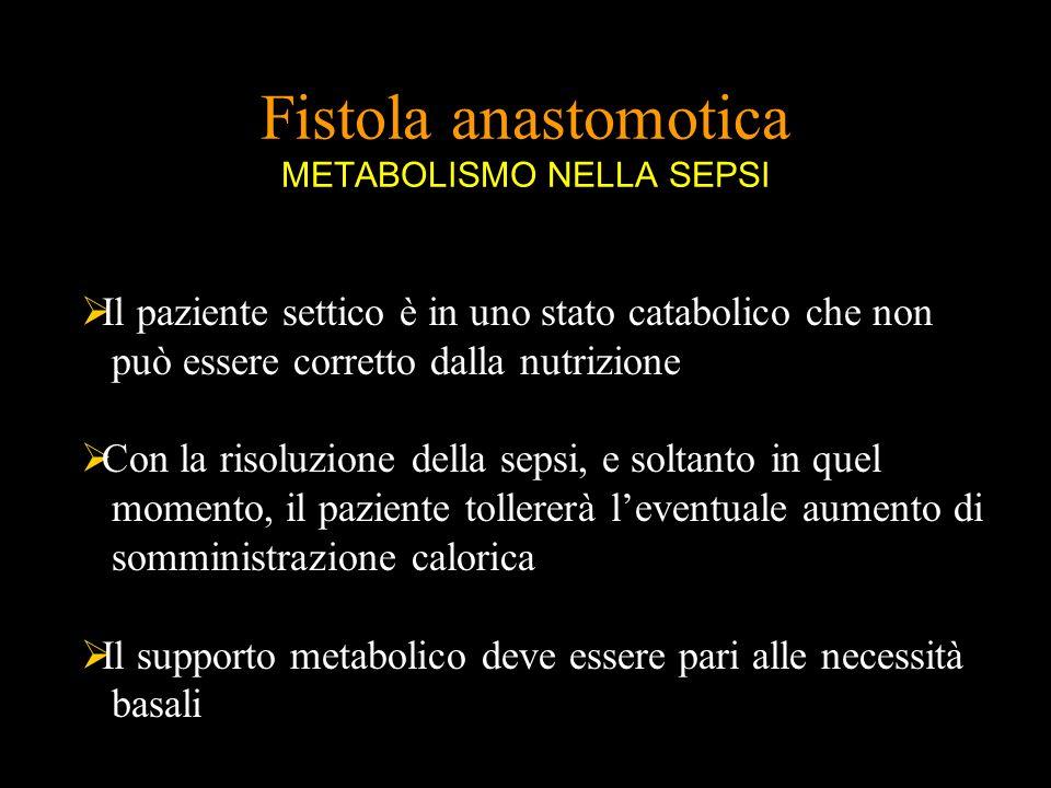 Fistola anastomotica METABOLISMO NELLA SEPSI