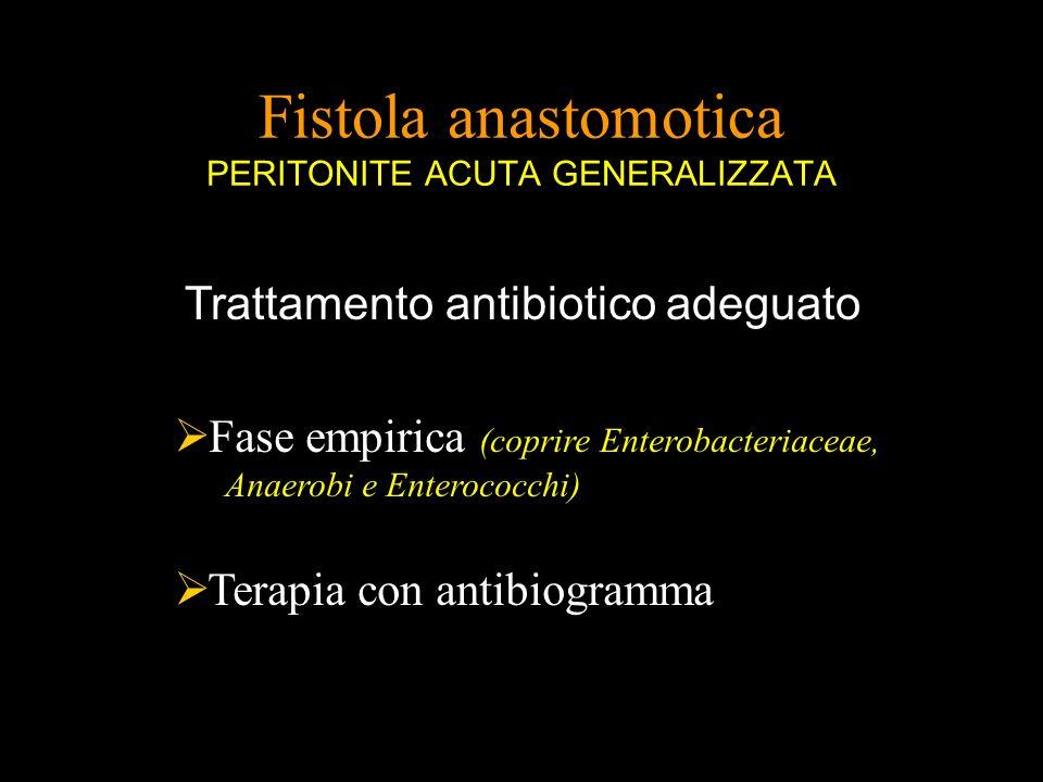 Fistola anastomotica PERITONITE ACUTA GENERALIZZATA