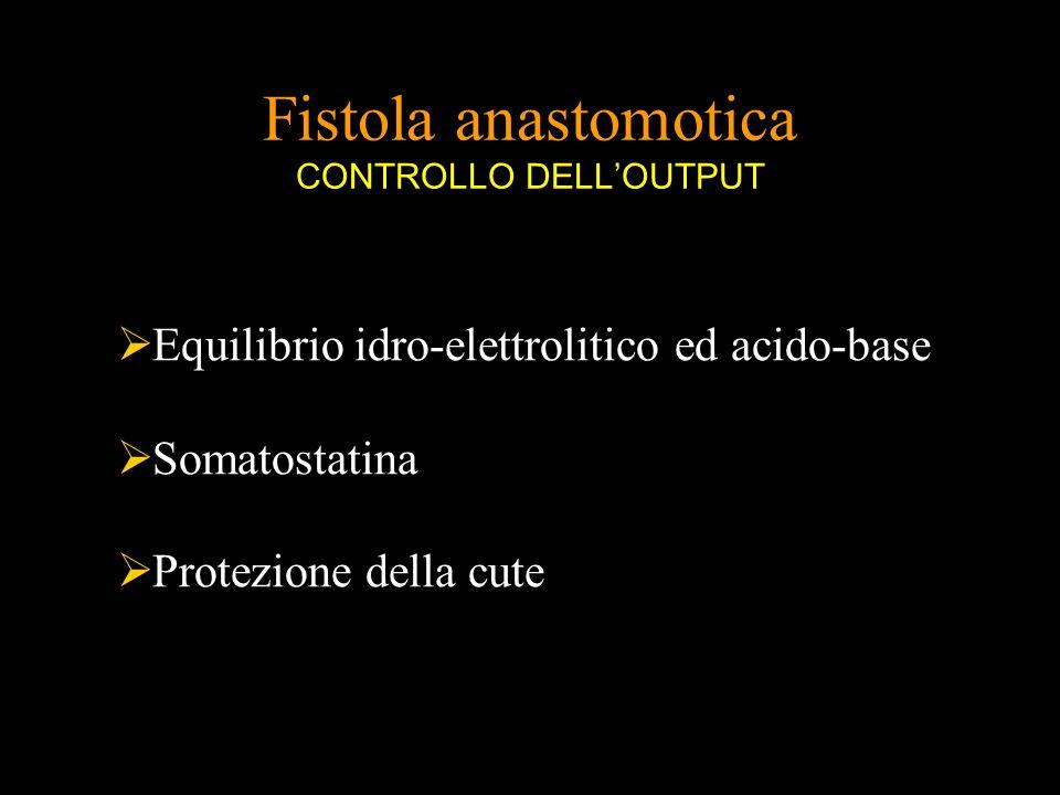 Fistola anastomotica CONTROLLO DELL'OUTPUT