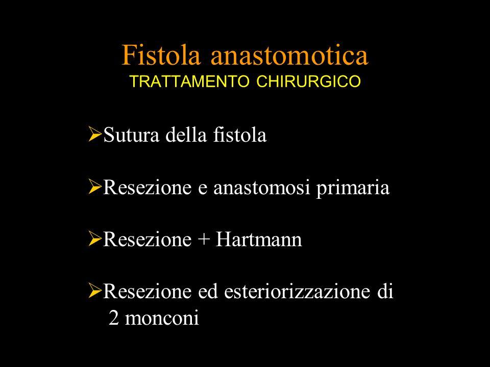 Fistola anastomotica TRATTAMENTO CHIRURGICO