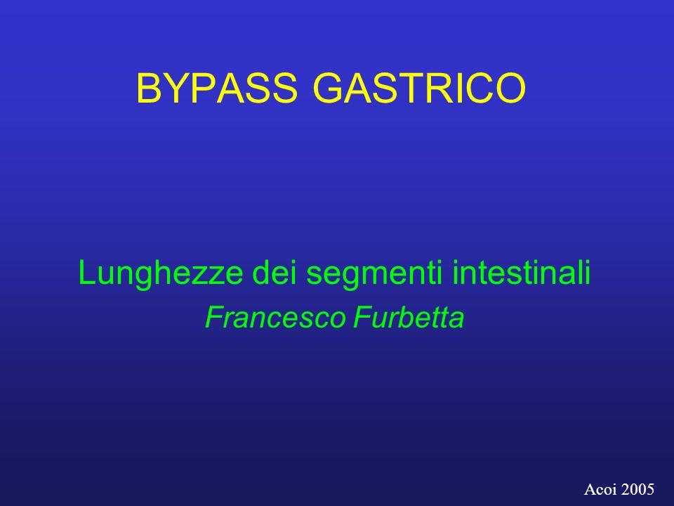 Lunghezze dei segmenti intestinali Francesco Furbetta