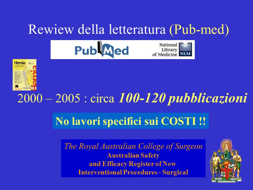 Rewiew della letteratura (Pub-med)