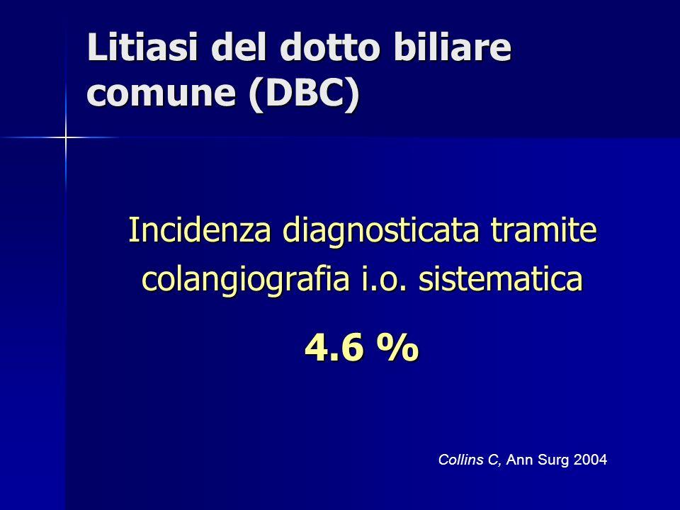 Litiasi del dotto biliare comune (DBC)