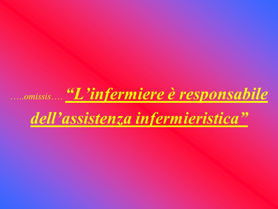 dell'assistenza infermieristica