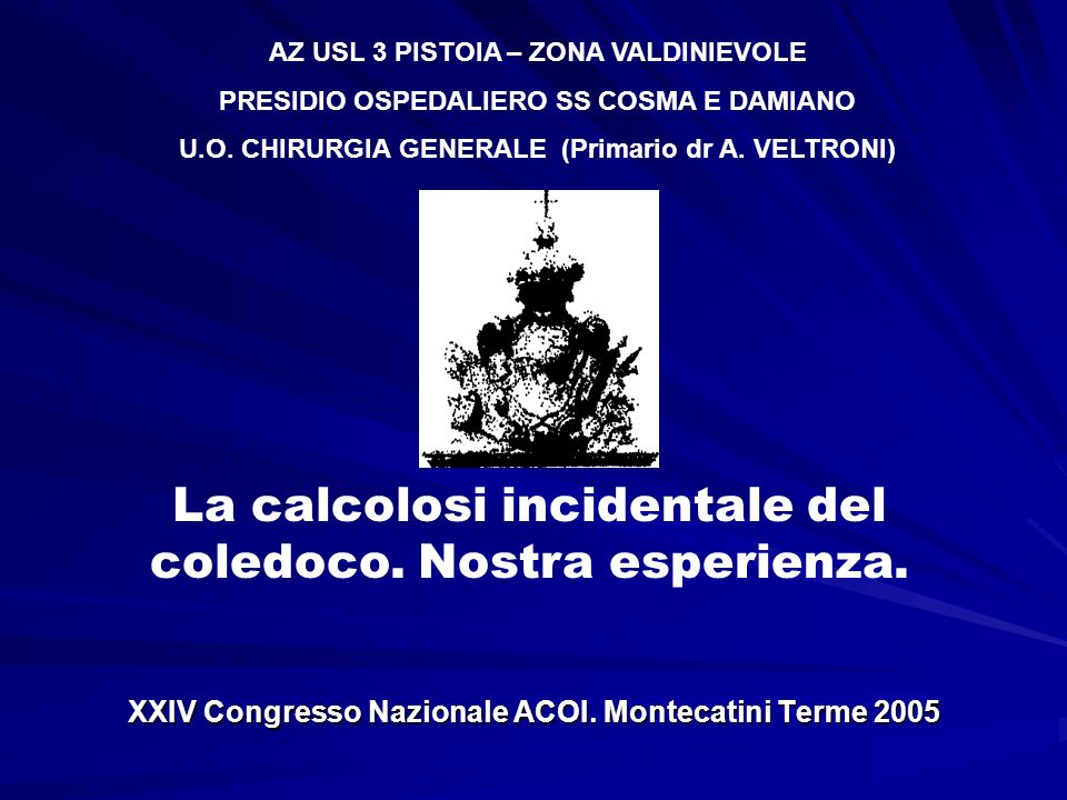XXIV Congresso Nazionale ACOI. Montecatini Terme 2005