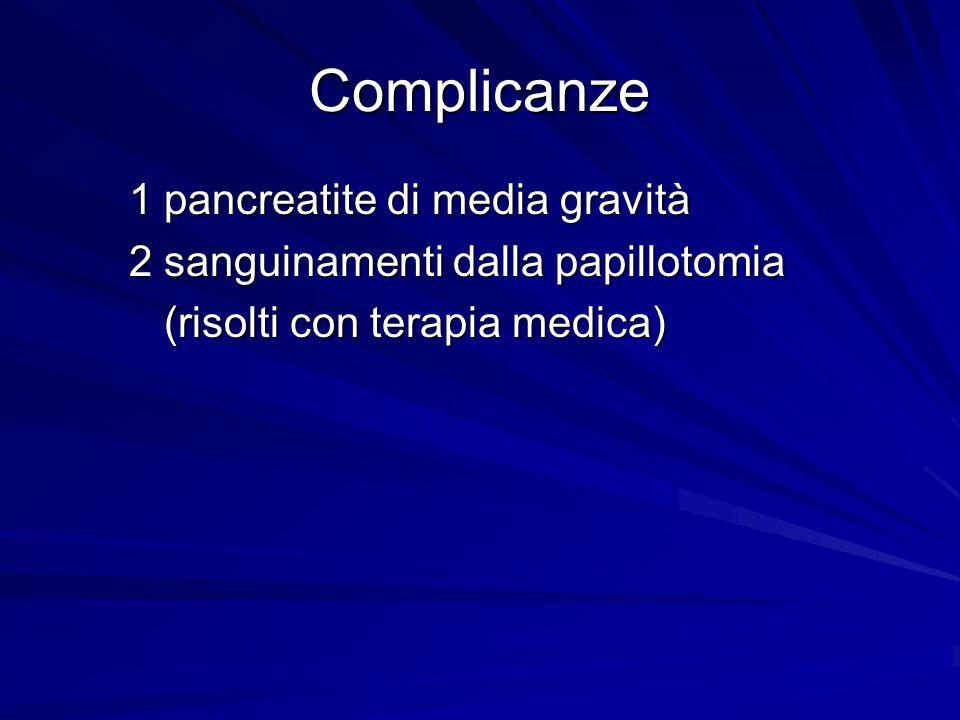 Complicanze 1 pancreatite di media gravità
