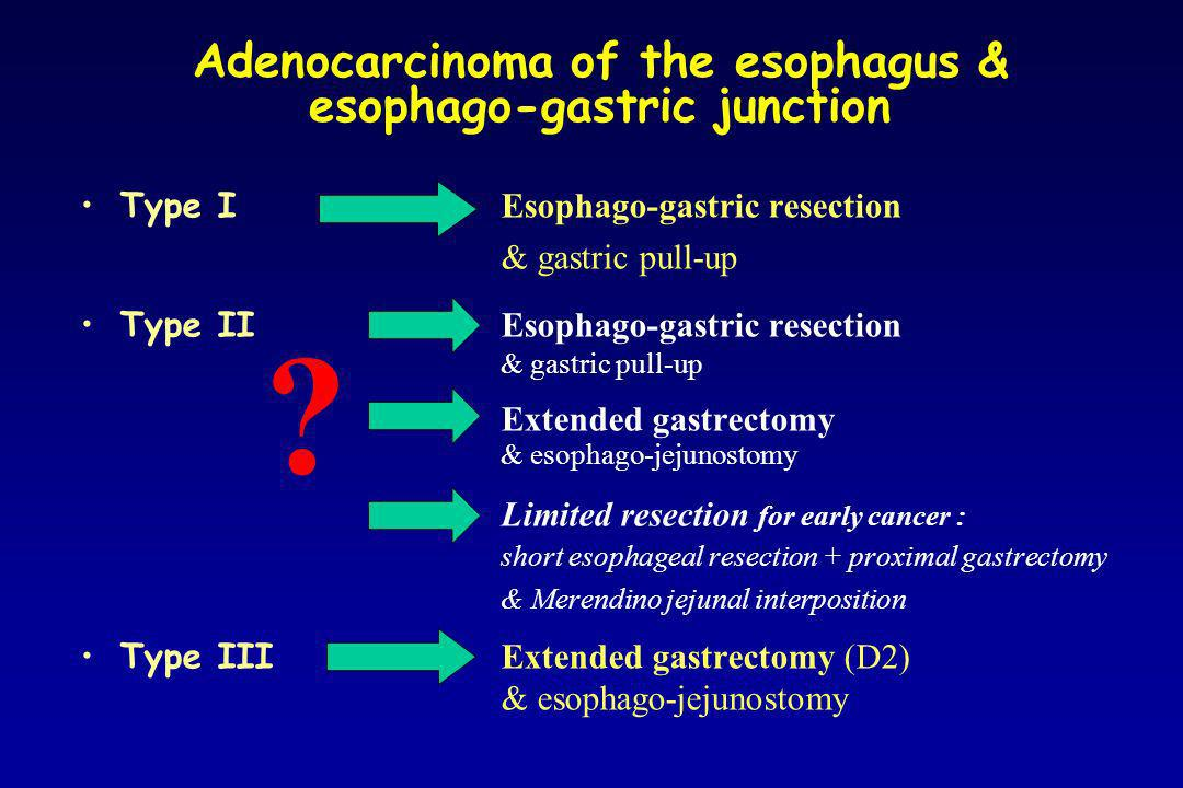 Adenocarcinoma of the esophagus & esophago-gastric junction