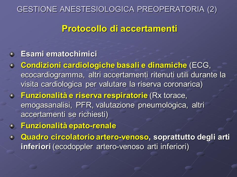 GESTIONE ANESTESIOLOGICA PREOPERATORIA (2)