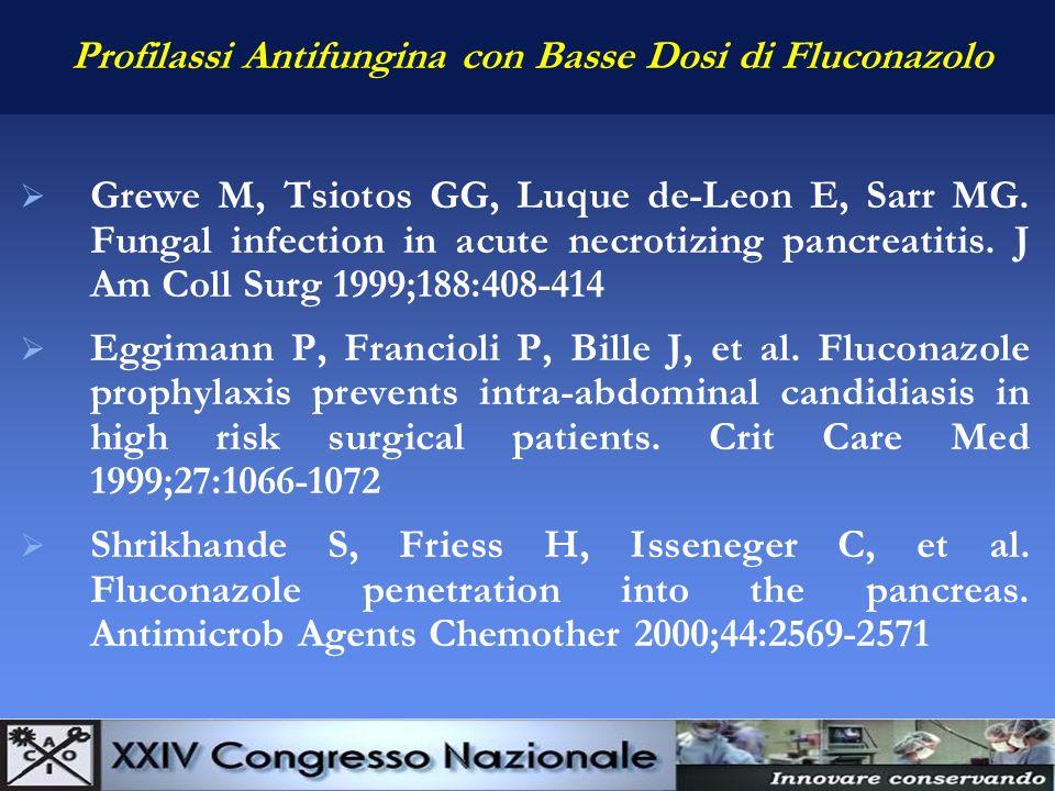 Profilassi Antifungina con Basse Dosi di Fluconazolo