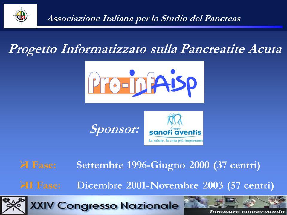 Progetto Informatizzato sulla Pancreatite Acuta