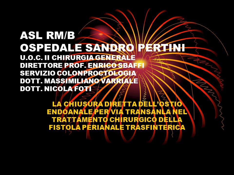 ASL RM/B OSPEDALE SANDRO PERTINI U. O. C