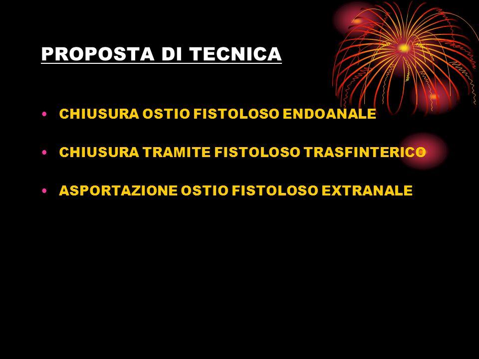 PROPOSTA DI TECNICA CHIUSURA OSTIO FISTOLOSO ENDOANALE