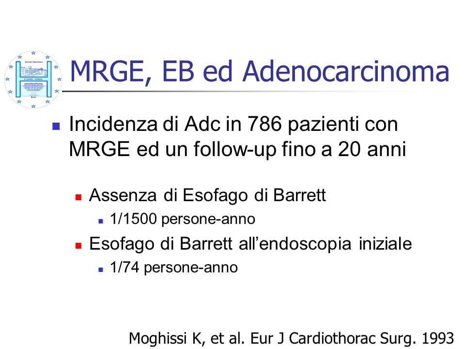 MRGE, EB ed Adenocarcinoma