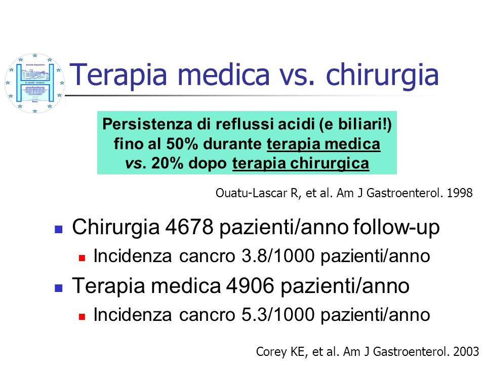Terapia medica vs. chirurgia
