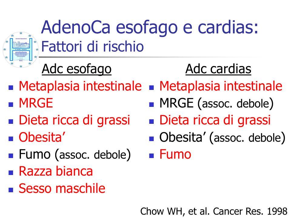 AdenoCa esofago e cardias: Fattori di rischio