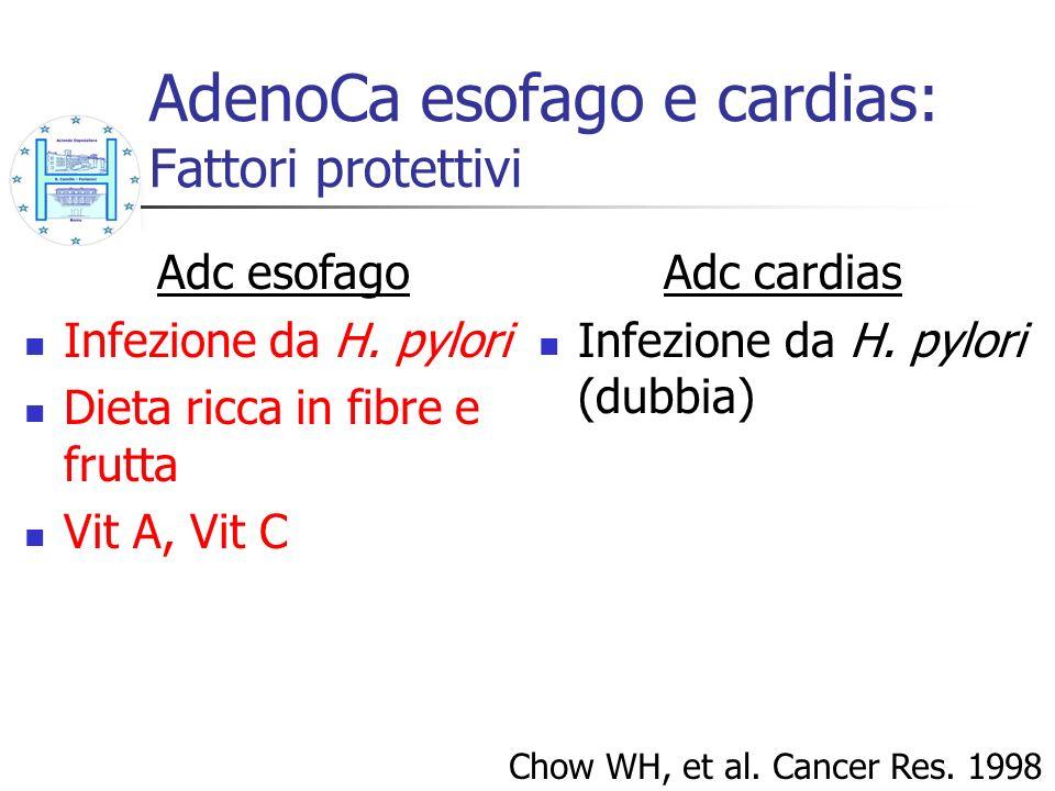 AdenoCa esofago e cardias: Fattori protettivi