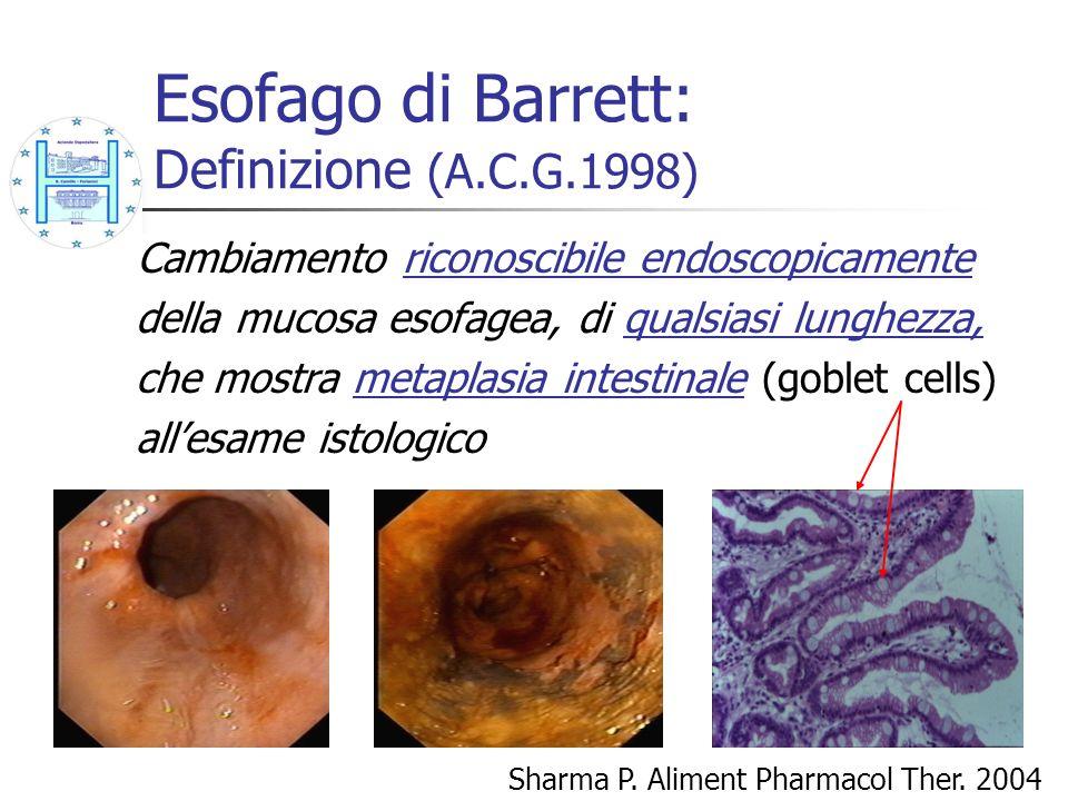 Esofago di Barrett: Definizione (A.C.G.1998)