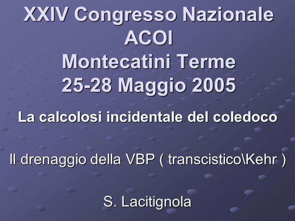 XXIV Congresso Nazionale ACOI Montecatini Terme 25-28 Maggio 2005