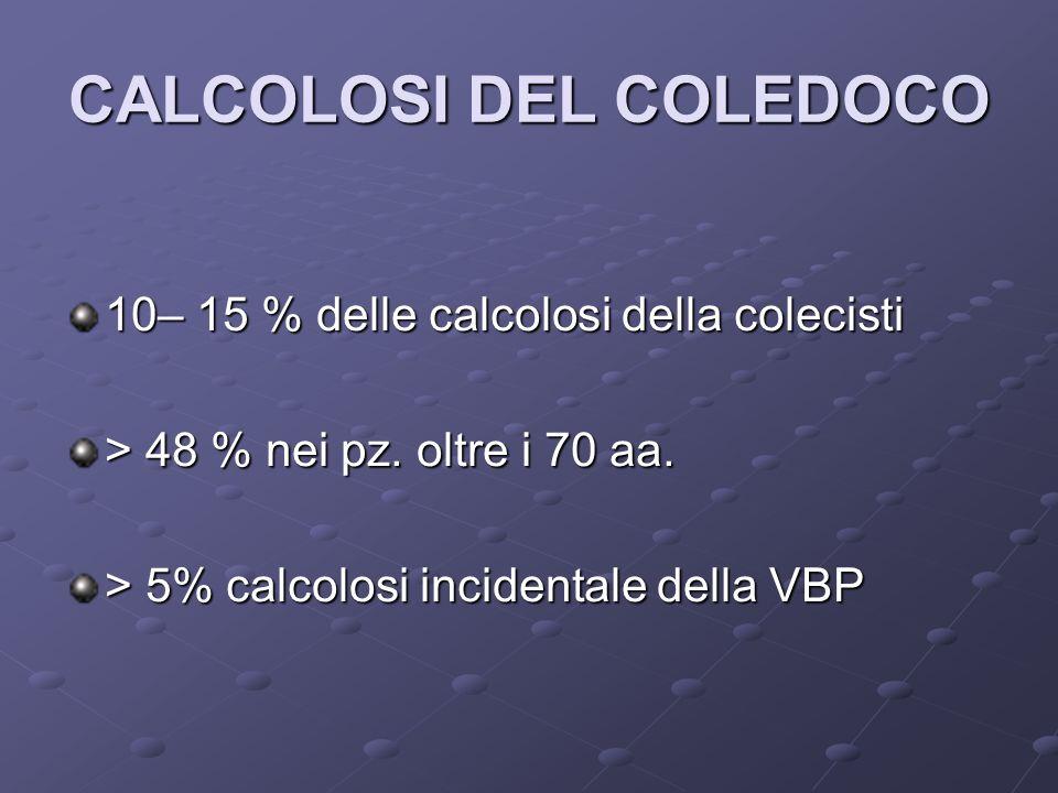 CALCOLOSI DEL COLEDOCO